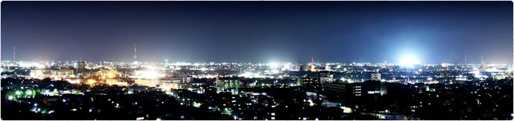 衣やから見える金沢の夜景