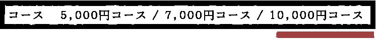 4,000円コース/5,000円コース/6,000円コース(税別)